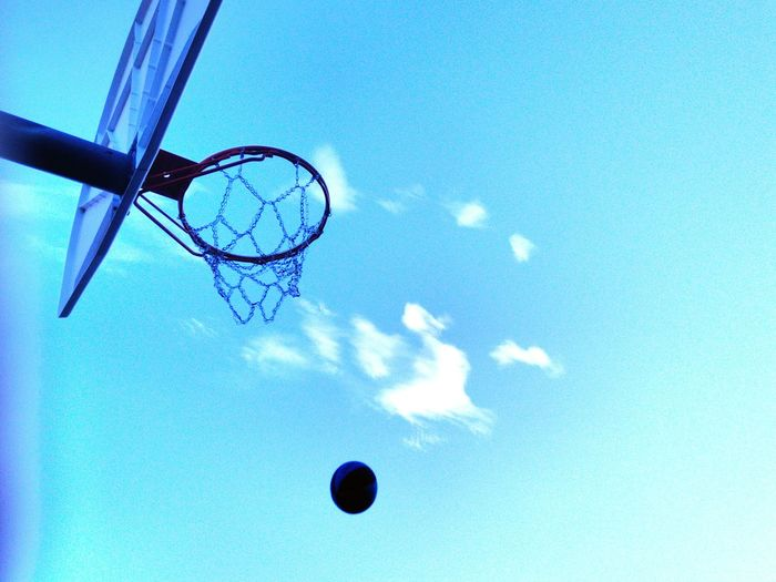 Blue Day Basketball Hoop Sky Sport Basketball - Sport Outdoors Flying Sport In The City Hoops Hoopdreams Chain Net Neighborhood Outdoor Activity Basketball Hoop Basketball Life Dreambig PracticeMakesPerfect Outdoor Sports Backgrounds Playing Basketball Playing Games Exercising Fitness Healthy Lifestyle