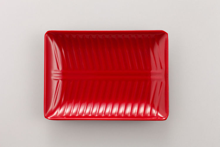 Close-up of red box against white background