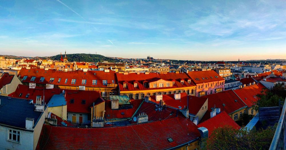 Cityscape Outdoors Travel Destinations Market Sky Day No People Vacations City Architecture Cityscape Old Buildings Panorama Panoramic Prague Praha Summer View Roof Rooftop