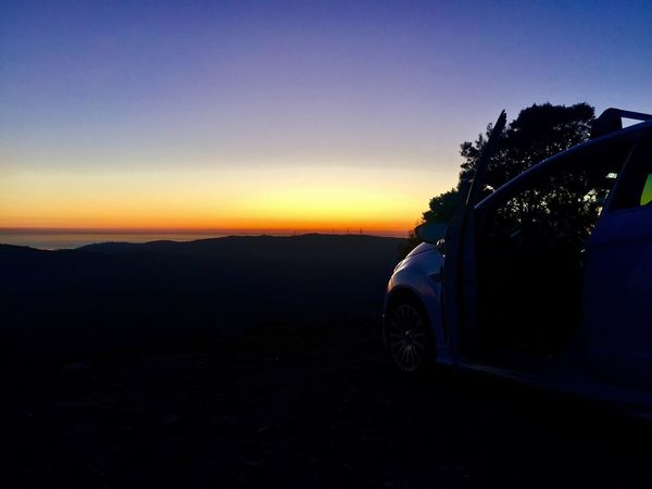 Car Sunset Transportation Land Vehicle Mode Of Transport Sky Silhouette Travel No People Nature Scenics Blue Landscape Beauty In Nature Clear Sky Outdoors Day Ford Fordfiesta Clear Sky Tranquility Tranquil Scene