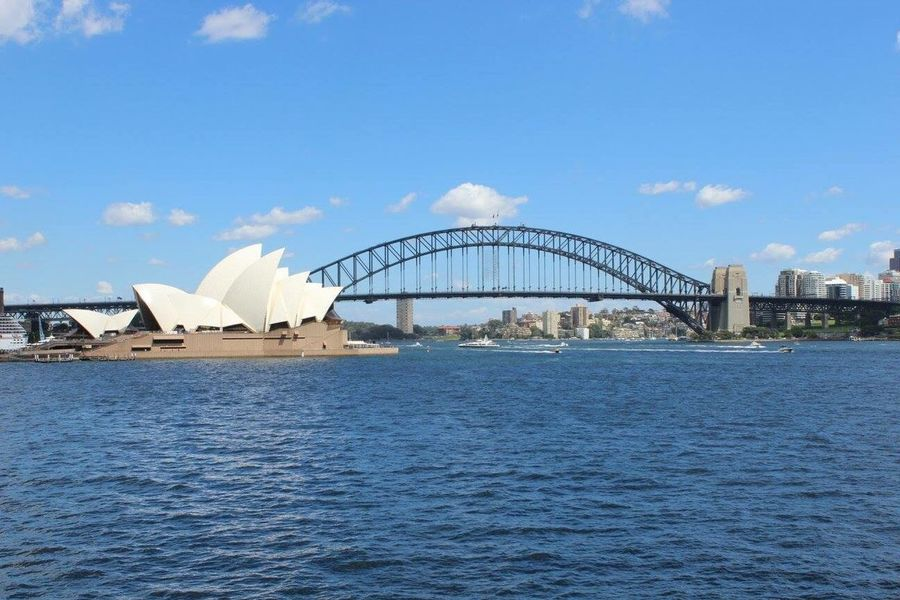 Sydney Opera House with Sydney Harbour Bridge in the background. Architecture Travel Destinations City Built Structure Sky Outdoors Beautifulstructure Sydneyoperahouse SydneyHarbourBridge