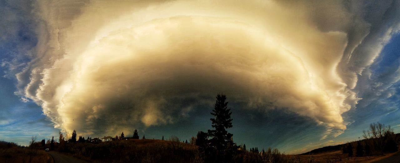 Dramatic Sky Storm Storm Cloud Accidents And Disasters Thunderstorm Cloud - Sky Tree Extreme Weather Nature Power In Nature Landscape Scenics Lightning Night Outdoors Mountain Beauty In Nature TreeNo People Sky Tornado Chinook Lost In The Landscape Sunset True Colours