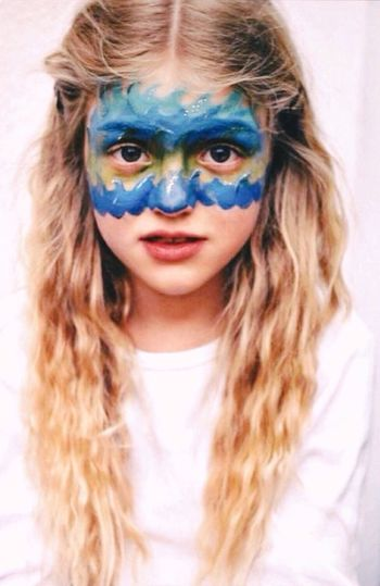 👧🏼 🌊 Portrait Child Blonde Hair Waves Ocean Water Blue Makeup EyeEm Best Shots First Eyeem Photo Analogue Photography Green Eyes