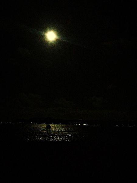 enjoying the super moon