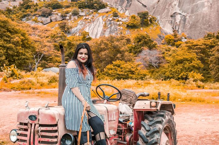 Adult Smiling Travel One Person Only Women People Transportation Young Adult Adults Only Rural Scene Outdoors Portrait Old-fashioned Young Women Vacations Autumn Road Trip Sitting Lifestyles Women Vintage Investing In Quality Of Life The Week On EyeEm