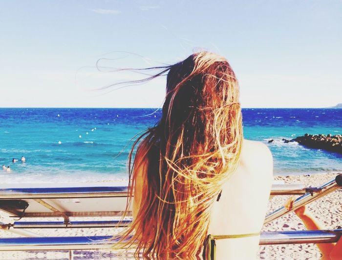 Cannes Sea Seaside Hairinthewind Fair Holiday Summer ☀️🌊