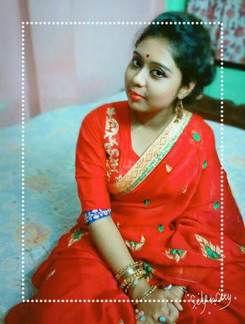 Jewelry Red Traditional Clothing Young Adult Sari Beauty