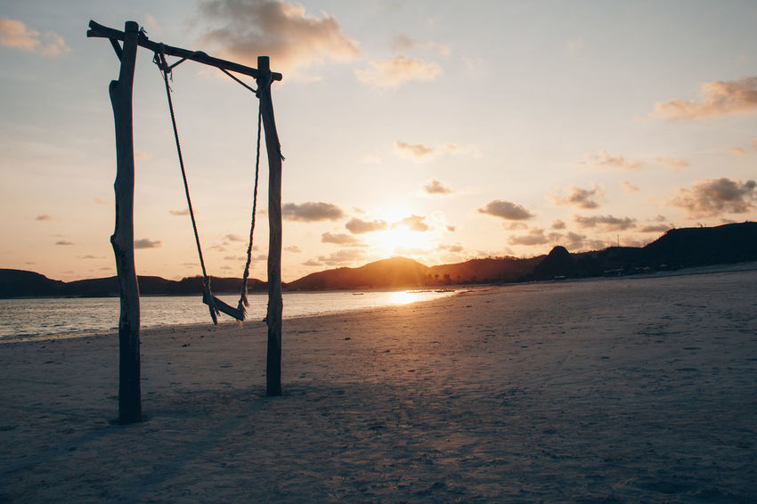 Beach Beauty In Nature Day Nature No People Outdoors Sand Scenics Sea Silhouette Sky Sun Sunset Tranquil Scene Tranquility Water