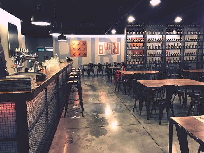 Interior Design Interior Brewery Hipsterstyle Special Place Metal Structure Environmentalist Seat Table Bar - Drink Establishment Text Indoors  Cafe Architecture Chair Bar Counter Illuminated Lighting Equipment Restaurant Food And Drink No People