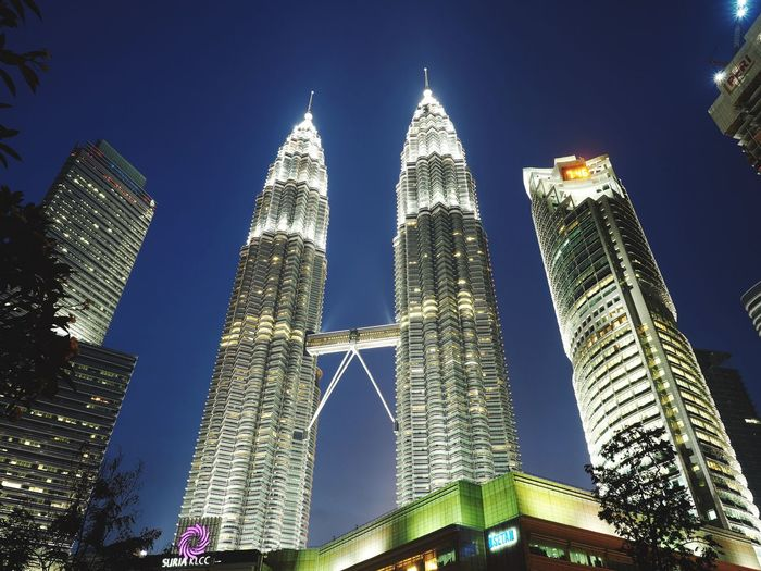 Low Angle View Architecture Tall - High Building Exterior Built Structure Religion City Tower Skyscraper Travel Destinations Spirituality Outdoors No People Place Of Worship Sky Clear Sky Day Kuala Lumpur Twintowers Twintower Suria KLCC Klcc