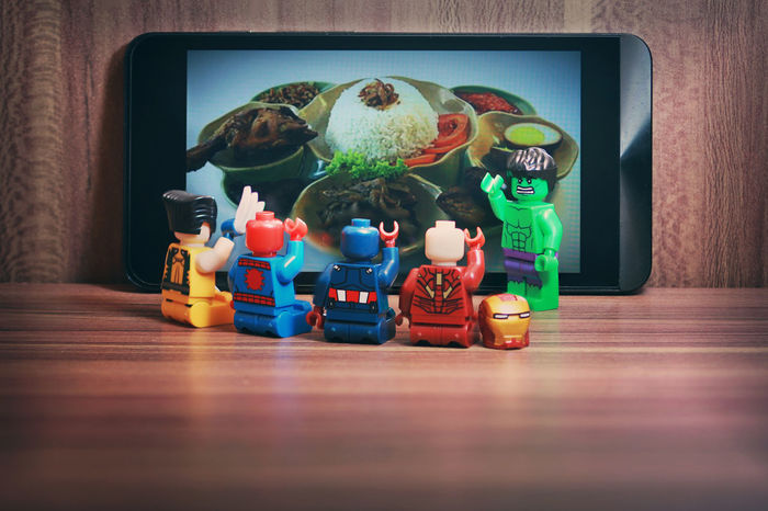 selecting menu LEGO Togetherness Captainamerica Marvel Marvellegends Marvelfigures Indoors  No People MarvelHeroes Lego Minifigures Legophotography Legocollection Ironman Hulk Marvelactionfigure Marvelentertainment Toy