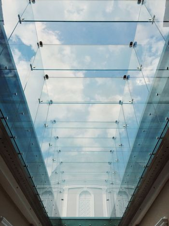 Skylight within the compounds of the National Museum of Singapore Architecture No People Indoors  Low Angle View Built Structure Day Modern Sky Skylight Singapore EyeEmNewHere