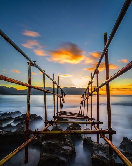 Isola delle femmine Check This Out EyeEm EyeEm Best Edits EyeEm Best Shots - Sunsets + Sunrise EyeEm Gallery Italy Europe Seascape Landscape Nature Sunset Tramonto Sky Sicily Pontile Long Exposure Sea And Sky Palermo Sicilia Leefilters Canonphotography EyeEm Best Shots