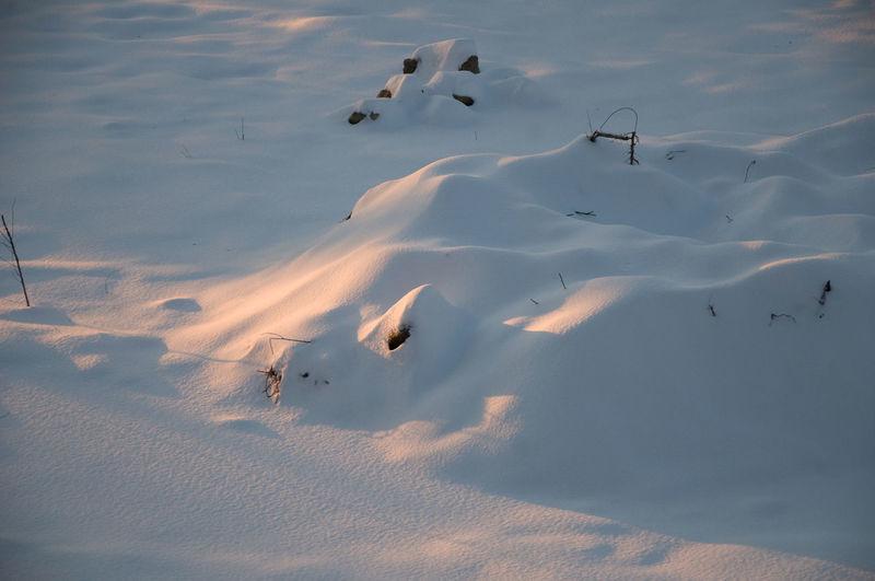Full frame shot of snowy field