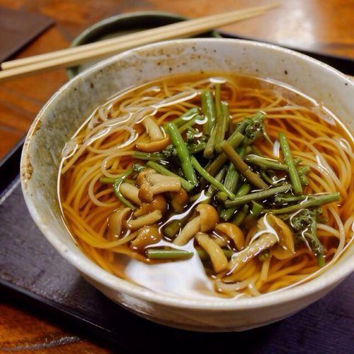 Noodle Soup And Chopsticks