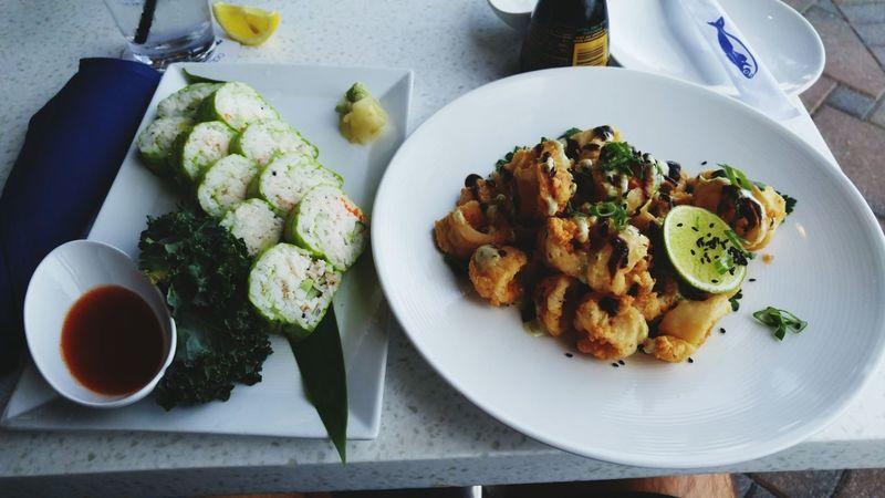 The perfect looking meal Foodporn Fish Fancy Plate Calamari Sushi Artsy Photography WhiteGirlStatus