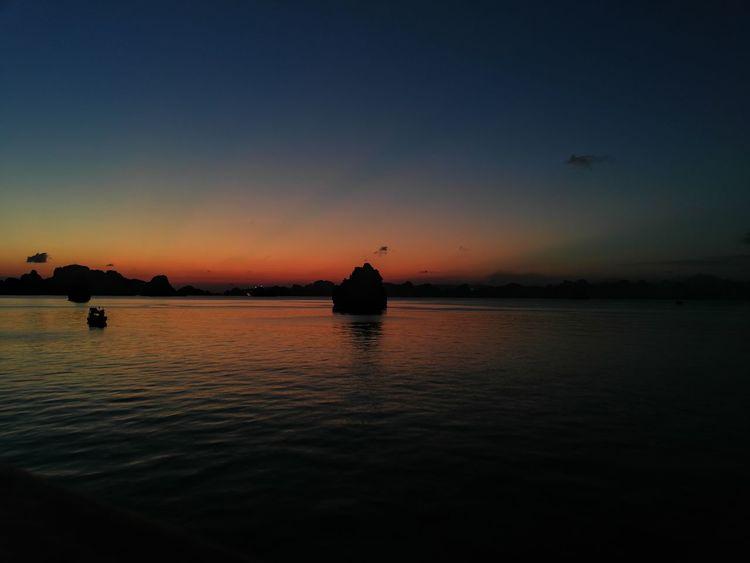 life Sunset Sea Nautical Vessel Silhouette Reflection Sky Horizon Over Water EyeEmNewHere