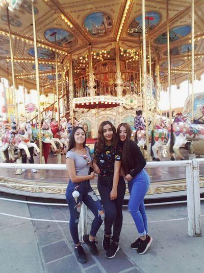 Amusement Park Arts Culture And Entertainment Carousel Amusement Park Ride Enjoyment Leisure Activity Smiling