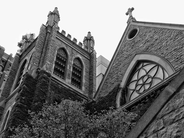 1959 this catholic church was built in Des Moines. Old Church Church Blackandwhite Walking Around Architecture Old