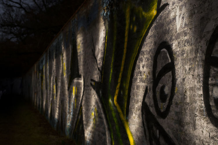 Architecture Flashlight Long Exposure Night Nymphenburg Outdoors Outside Smiley Wall