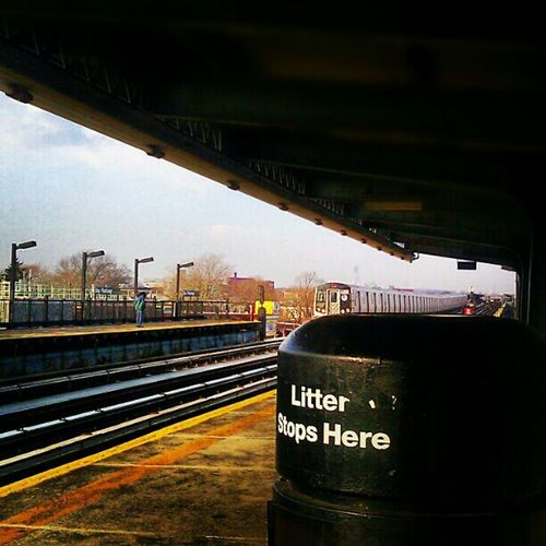 NYC Train Subway Station Brooklyn