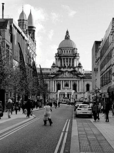 Belfast Walking Around The City  Samsung Galaxy S5 Belfast City Hall Tourist Blackandwhite