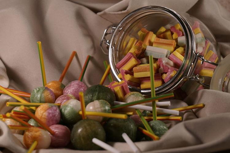 Close-up of multi colored pencils