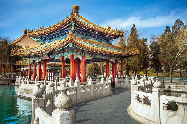Antique Beihai Guangxi Beihai-Park Beijing Beijing China Beijing Trip Chinatown Pagoda Xicheng Xinhua Gate Xinhuamen Zhonghai Beihai Park China