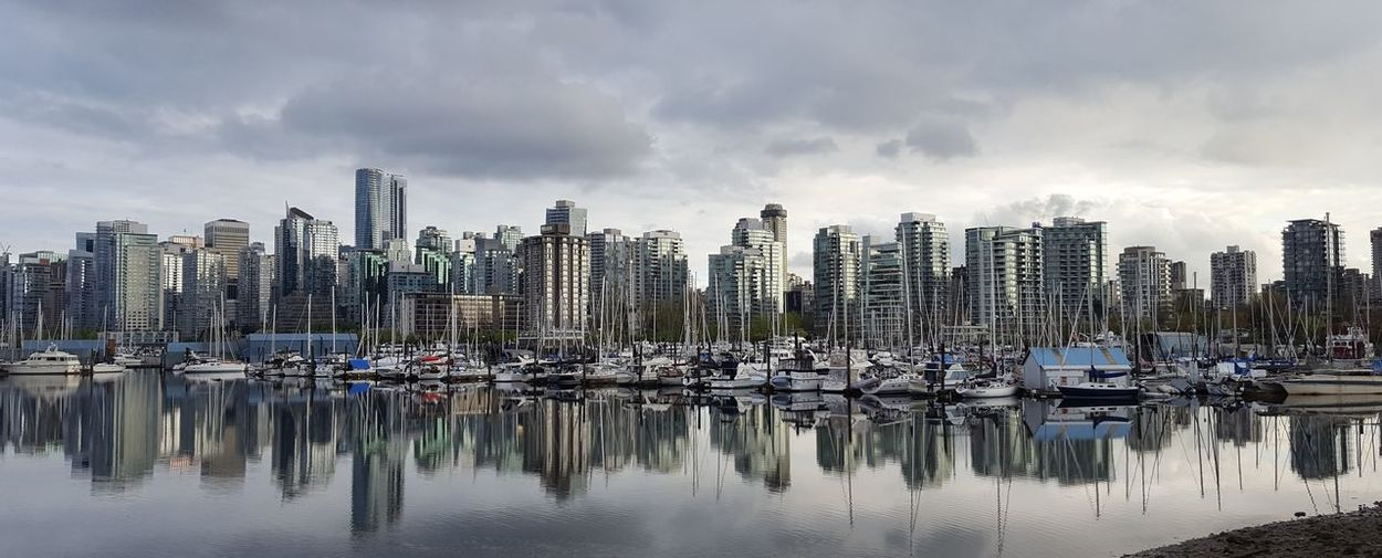Vancouver at dusk - full frame. Architecture Cityscape Urban Skyline Vancouverbc Reflection_collection Hello World