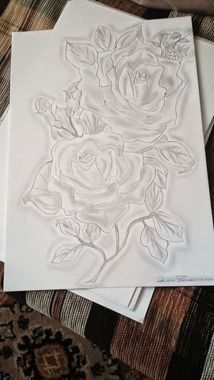 Flowers Rose🌹 Pinting ArtWork You Like? Buziaczki :)