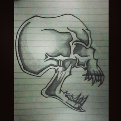 Skull Madebyme Drawing Paper Sketch Instasketch Instaclick Instaedit Instagood Instawow Instapost Perfect Horror Bored Timepass Nostudy Likeforlike Followforfollow TagForTag ShoutOut Likeforlike Ilovemyfollowers