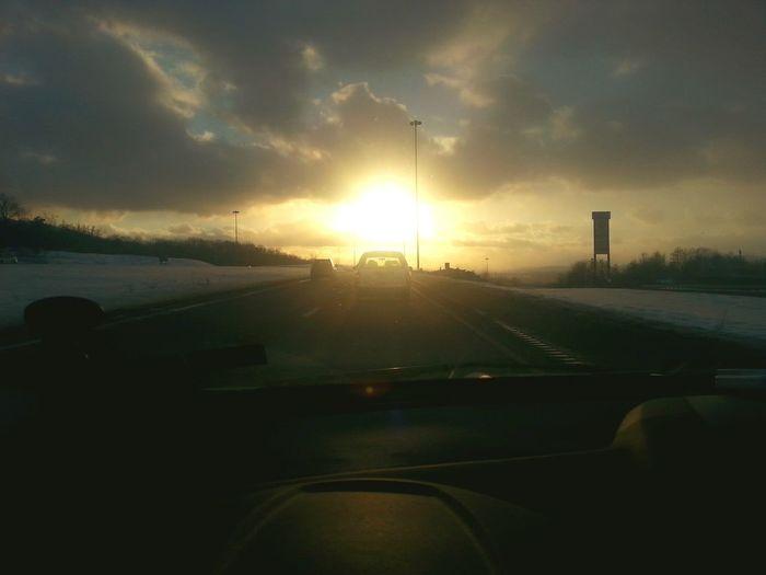Setting sun...