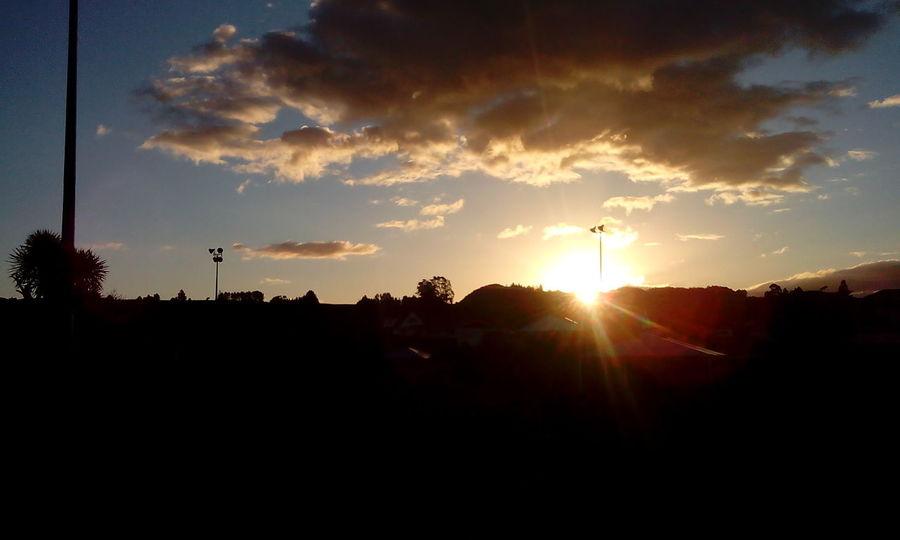 Rays of Sunx IrenesPics Silhouette Sunset No Fliter