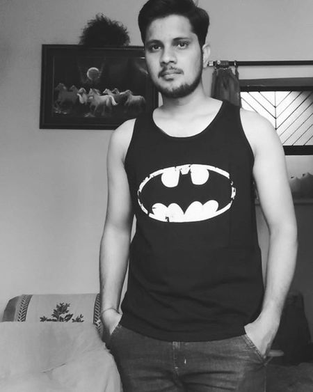 Black Sleeveless  Tshirt Mensvest Batman Logo Instahappy Instalike Instapic 😎 😉
