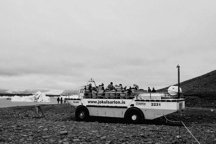 Bnw_friday_eyeemchallenge Jökulsárlón Amphibious Vehicle Bnw_transportation Beach