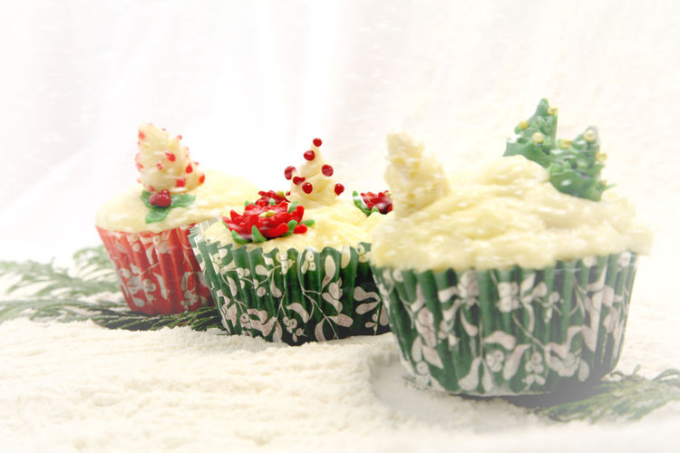 Close-up of cup cakes