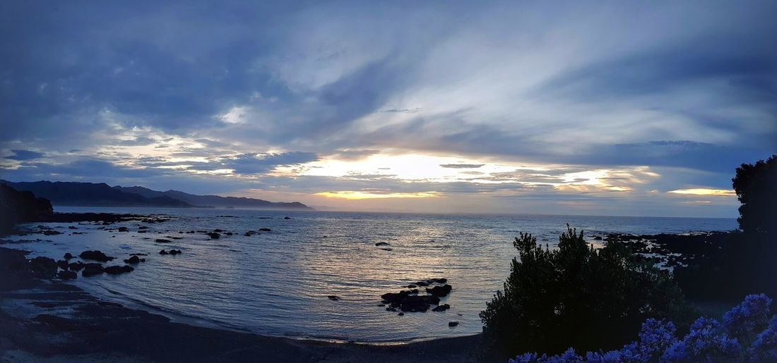 Sunset at Te Kaha Sea Sunset Beach Water Cloud - Sky Nature Scenics Sky Beauty In Nature Horizon Over Water Tranquility Outdoors Summer