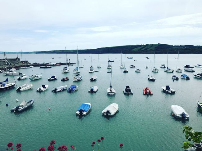 Fishguard harbour Calm Sea Boats In The Water Harbour Wales Fishguard Water Nautical Vessel Mode Of Transportation Transportation Sea Sky Nature