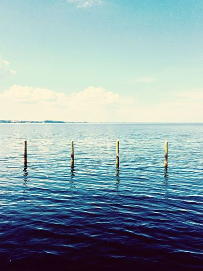 Denmark EyeEm Selects Sky Water Scenics - Nature Sea Horizon Beauty In Nature Waterfront Horizon Over Water Tranquil Scene Idyllic Blue Outdoors Day Cloud - Sky Rippled