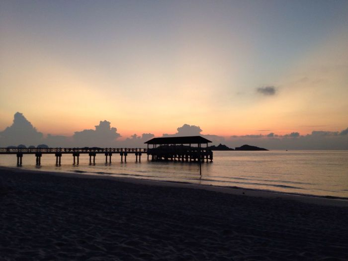 Pulau Redang Malaysia Beach Sunrise Jetty Island Morning