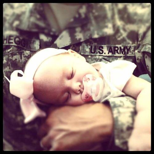 This precious moment is worth a thousand words...My Daughter Piper fell asleep in my arms at an appointment. Family❤ Fatherhood Moments Father & Daughter Military Family Precious Moments