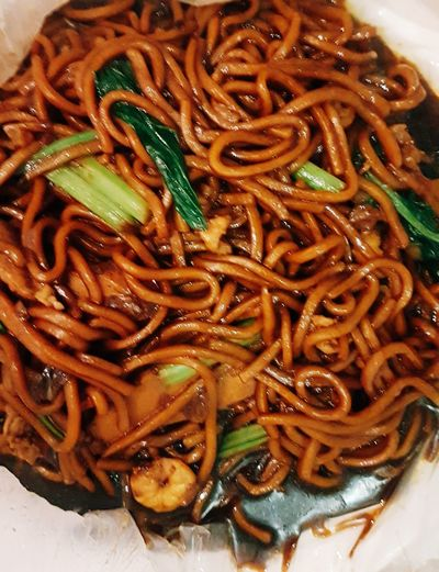 Black noodles..🍝🍲👌 DearG Ithink Myaccount Fulloffoodies:) Food Food And Drink Ready-to-eat Freshness Serving Size Indulgence Close-up Meal Plate Healthy Eating Cooked