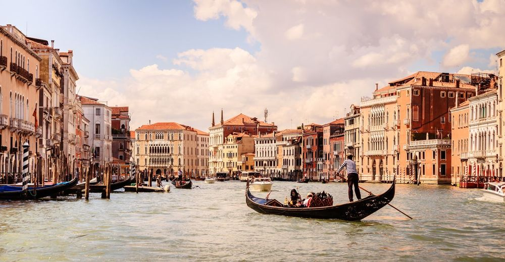 Venice,Italy Architecture Building Exterior Built Structure Canal City Cloud - Sky Gondola - Traditional Boat Gondolier Mode Of Transportation Nature Nautical Vessel Outdoors Sky Tourism Transportation Travel Travel Destinations Water Waterfront