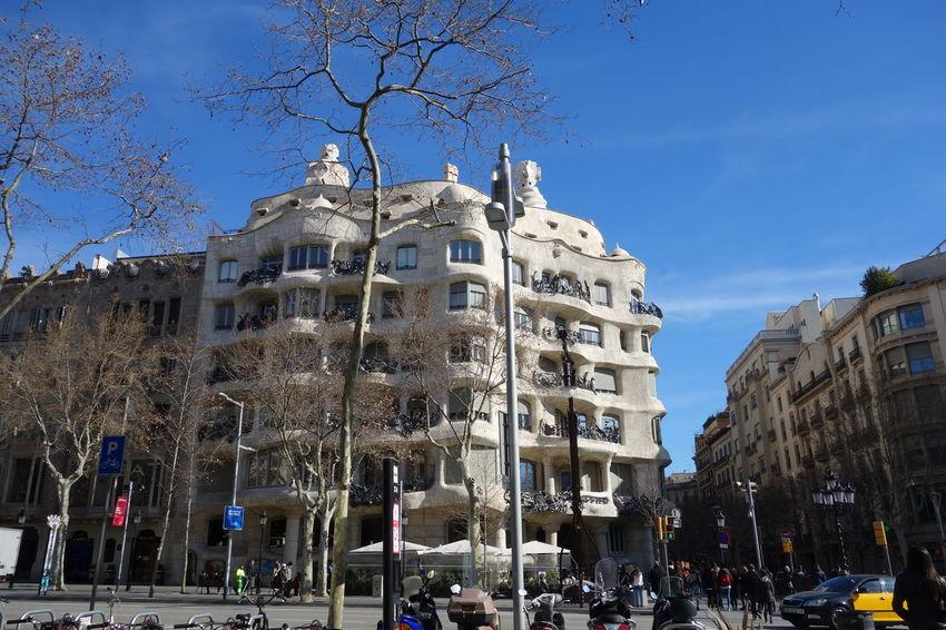 Architecture Building Exterior Casamila Famous Place Gaudi Travel Destinations