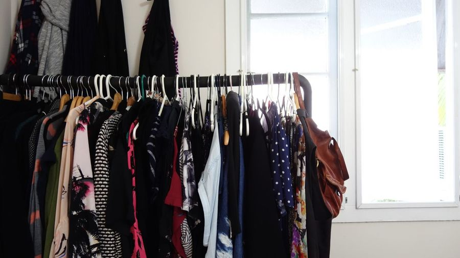 Clothes Hanging At Home