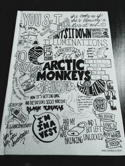 My New Notebook Arctic Monkeys ✊✊✊ ✌✌✌ Good Night World