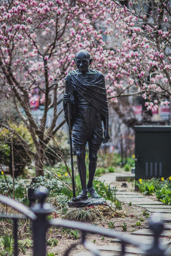 Statue Of Mahatma Gandhi In Park