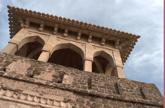 Sky Sculpture Fortress Light And Shadow Fort Architecture Angles And Lines Low Angle View Clouds And Sky History Old Mandu Madhya Pradesh Madhyapradesh
