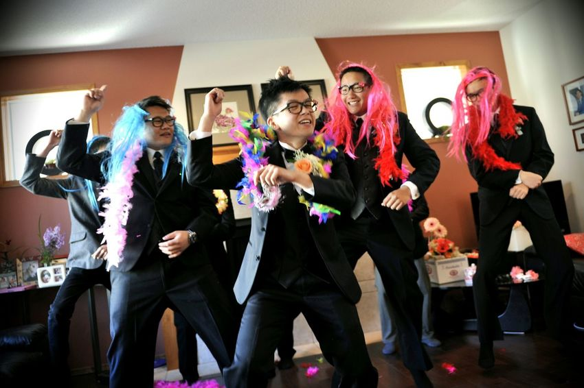 Weddings Around The World Canadian Chinese Wedding it become a standard door game for the Wedding Party to have Gangnam Style dance. Everybody in the room were so high.@ YYC