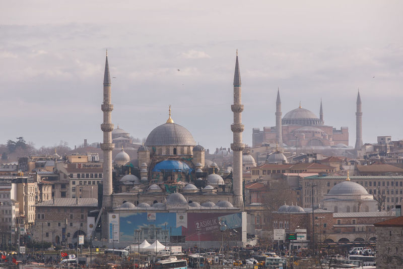 Istanbul Valide Sultan Mosque Pertevniyal Valide Sultan Mosque Architecture Building Exterior Built Structure Religion Dome Belief Place Of Worship Spirituality Building Travel Tourism Sky City Travel Destinations Nature History No People Outdoors Cityscape Mosque
